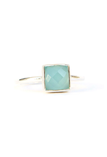 Sultry Sea Ring - Chalcedony
