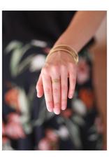 Tiny Tourmaline Stone Stacking Rings