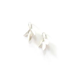 Leaf Cluster Earrings - Silver