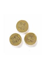 She/Her Pronoun Pin