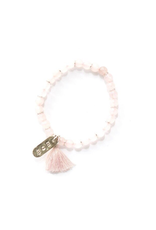 Mother's Love Stone Bracelet - Rose Quartz