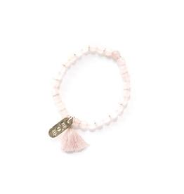Mother's Love Stone Bracelet - Rose Quartz