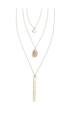 Triple Strand Multi-Way Pendant Necklace