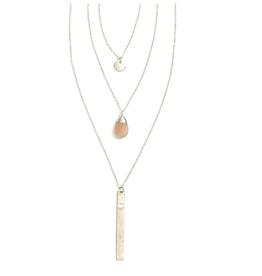 Triple Strand Multi-Way Pendant Necklace