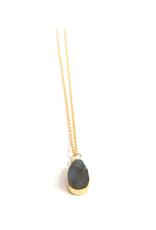 Uncut Labradorite Stone Necklace