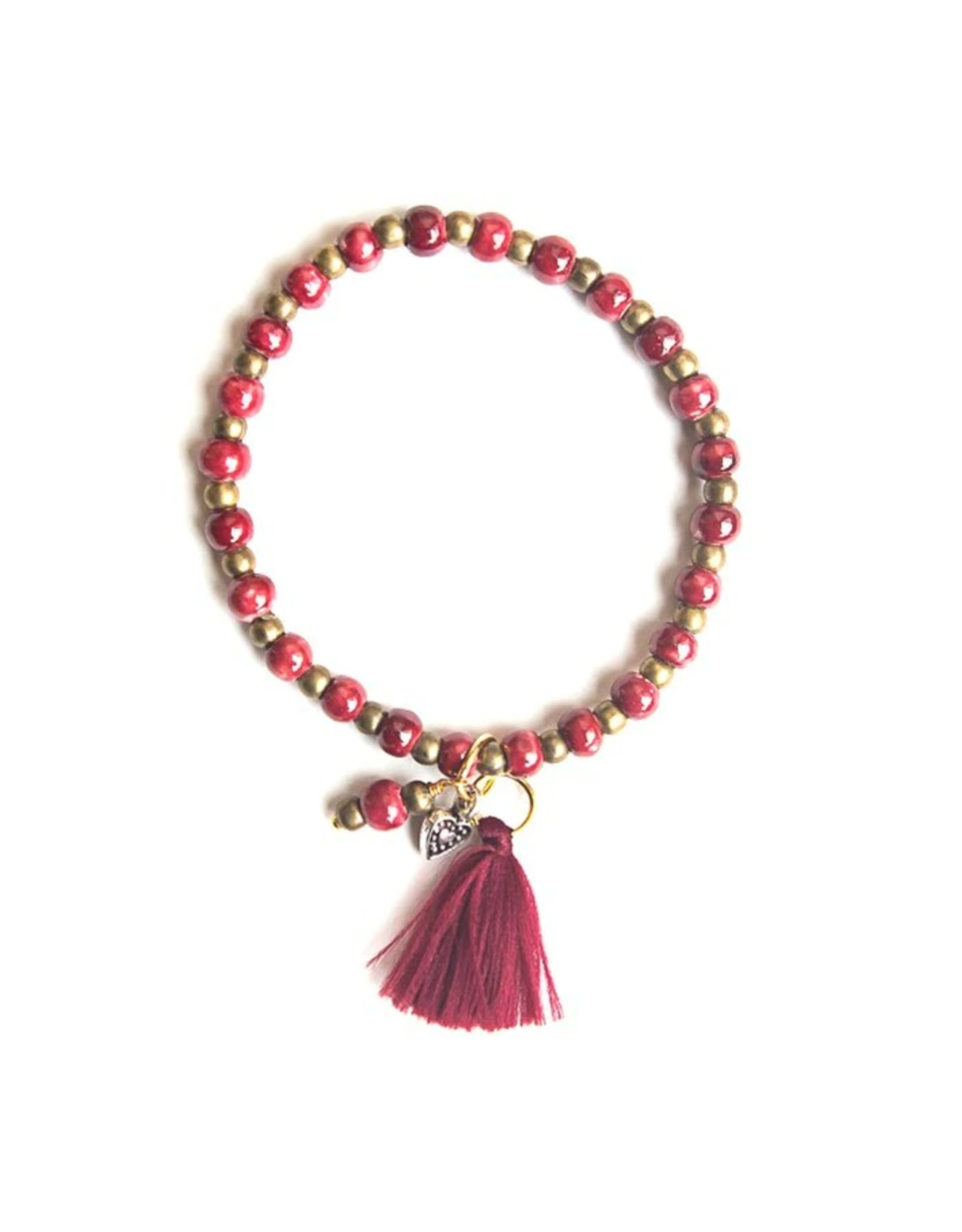 Amor Ceramic Tassle Bracelet
