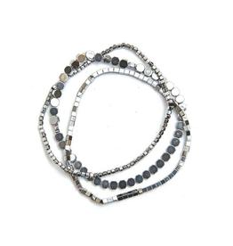 Hematite Elastic Bracelet Set