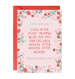 Stuck With You Valentine's Day Greeting Card