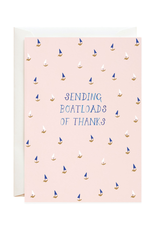 Sending Boatloads of Thanks Greeting Card