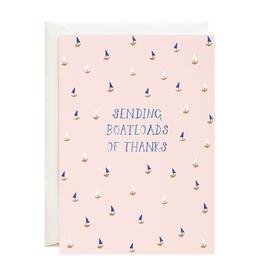 Sending Boatloads of Thanks Greeting Card
