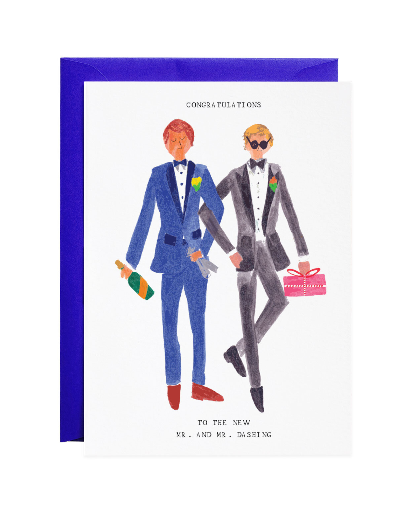 Mr. and Mr. Dashing Greeting Card