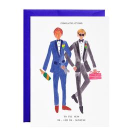 Mr. and Mr. Dashing Greeting Card