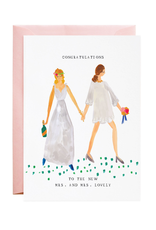 Mrs. and Mrs. Lovely Greeting Card
