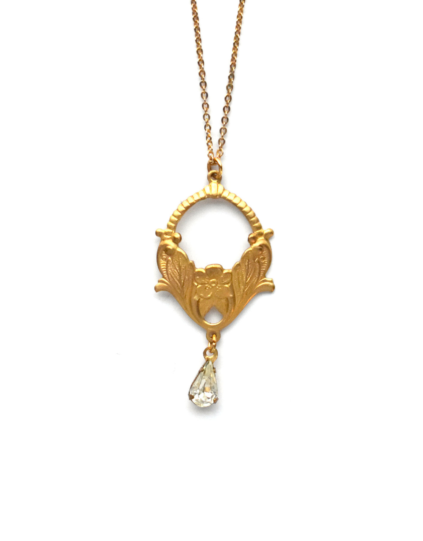 Nouveau Necklace with Crystal