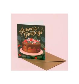 Season's Greetings Holiday Desserts Greeting Card
