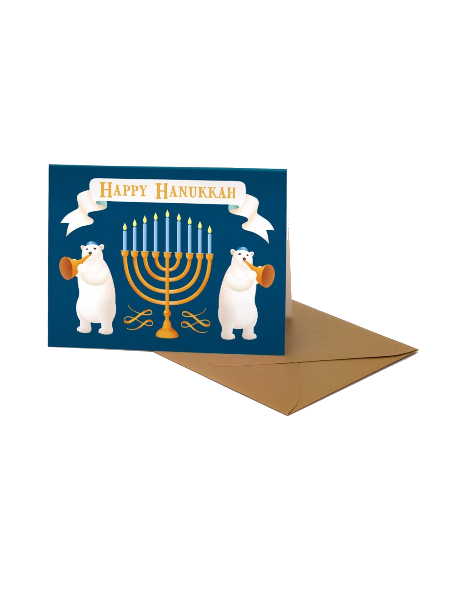 Polar Bear Hanukkah Greeting Card