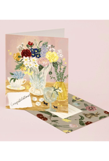 Congratulations (Desk Flowers) Greeting Card