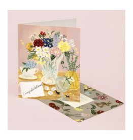 Congratulations (Desk Flowers) Greeting Card