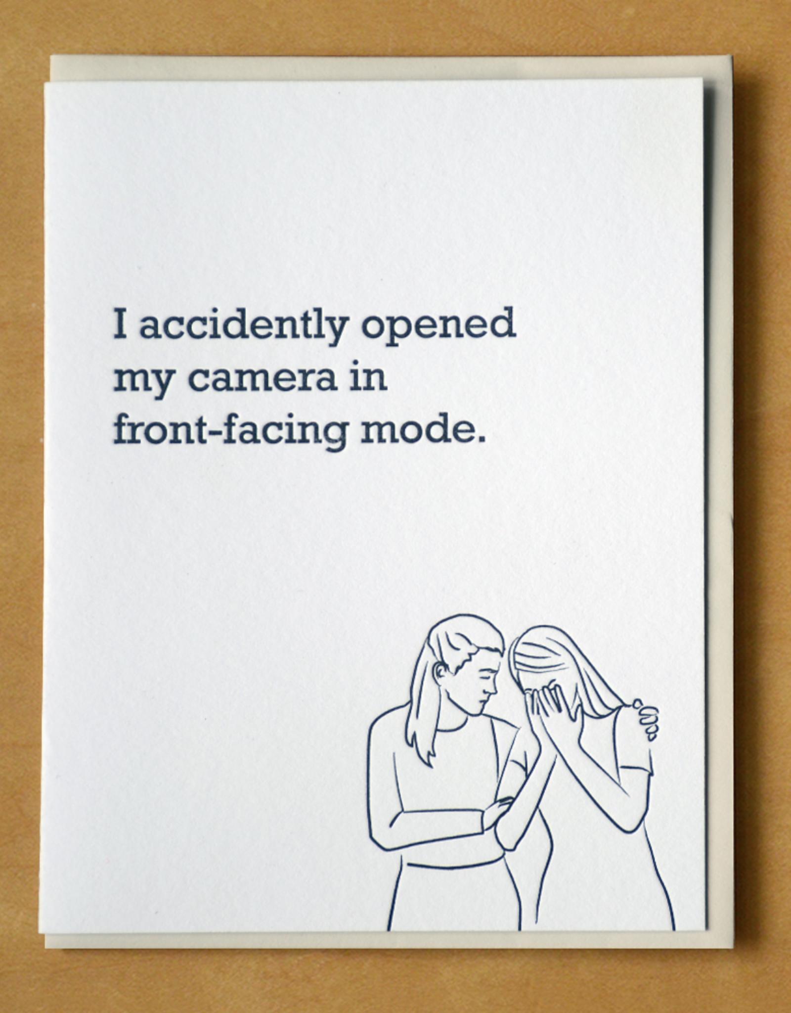 Opened Front-Facing Camera Greeting Card