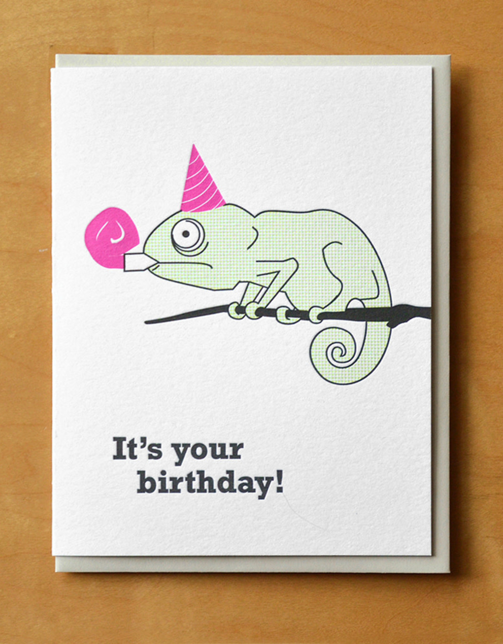 Birthday Chameleon Greeting Card