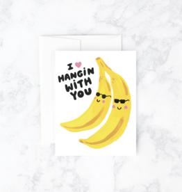Banana Hangs Greeting Card