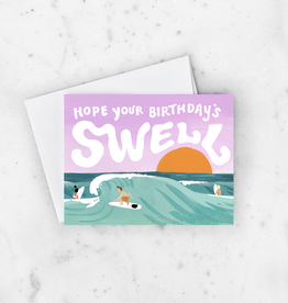 Hope Your Birthday is Swell Surfing Greeting Card
