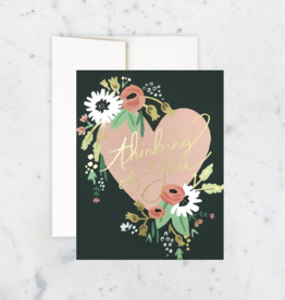 Thinking of You Bouquet Heart Greeting Card
