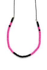 Pink & Bronze Beaded Necklace