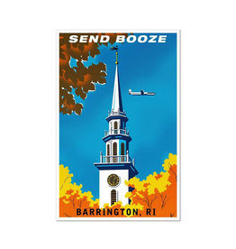 "Barrington, RI ""Send Booze"" Greeting Card"