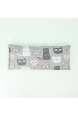 Lavender Eye Pillow :  Cats on Gray
