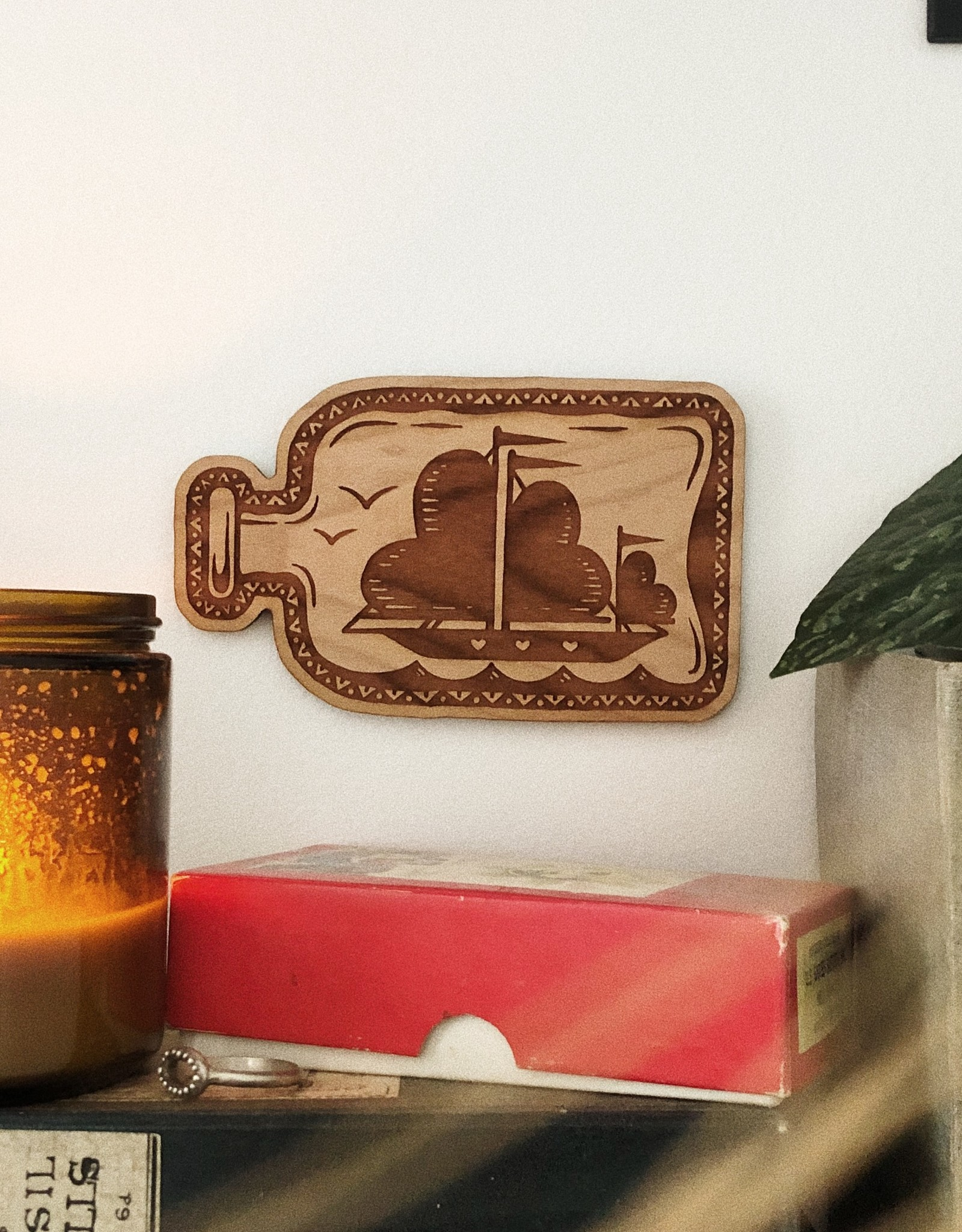 Love Token No. 5 - Ship in a Bottle