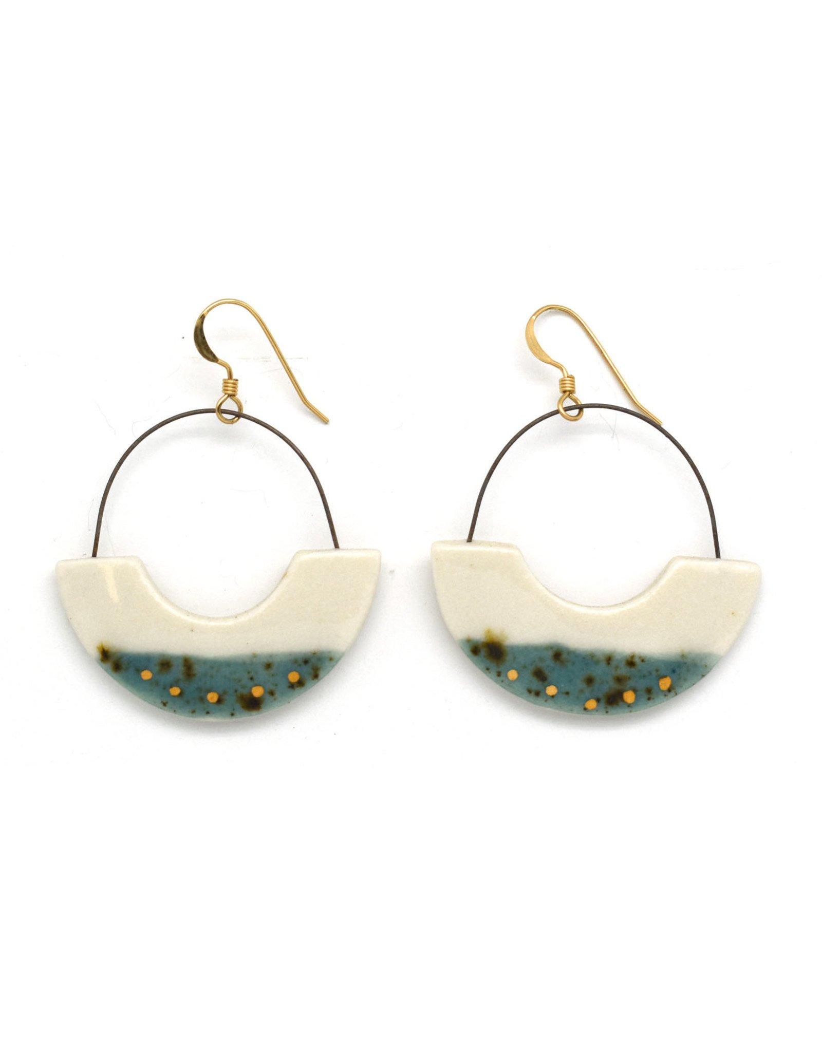 Half Circle Hoop Earrings -  Gold/Shipwreck