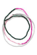 Saam Block Necklace - Pink, Grey & Green