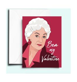 Bea My Valentine Greeting Card