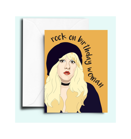 Stevie Nicks Rock on Birthday Woman Greeting Card