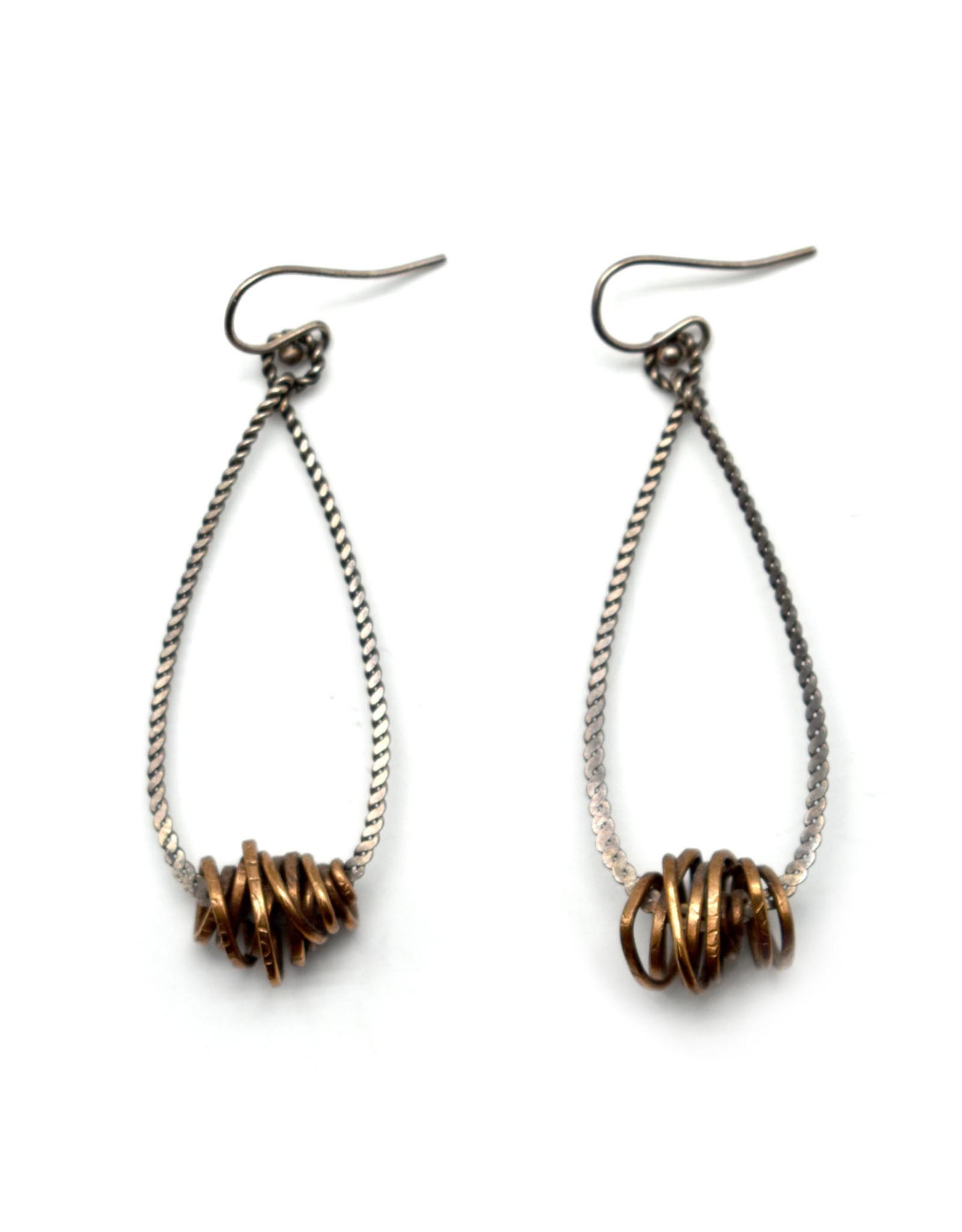 Copper Knot Earrings
