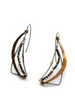 Crescent Moon  Wedge Earrings