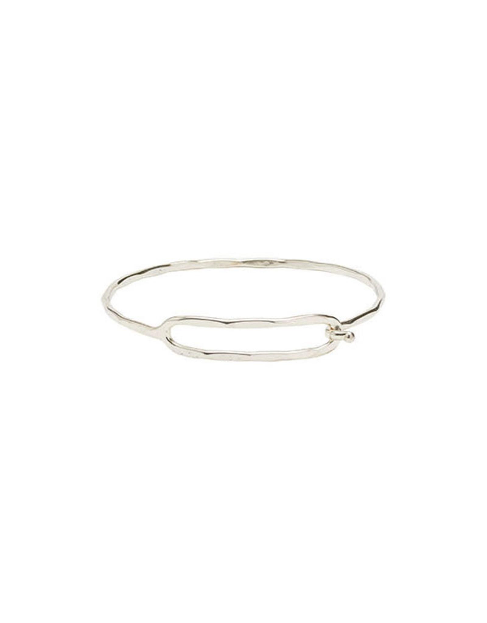 Rippled Ellipse Bracelet - Silver