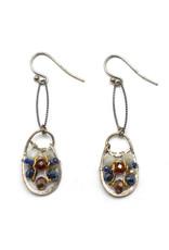 Gemstone Paddle Earrings