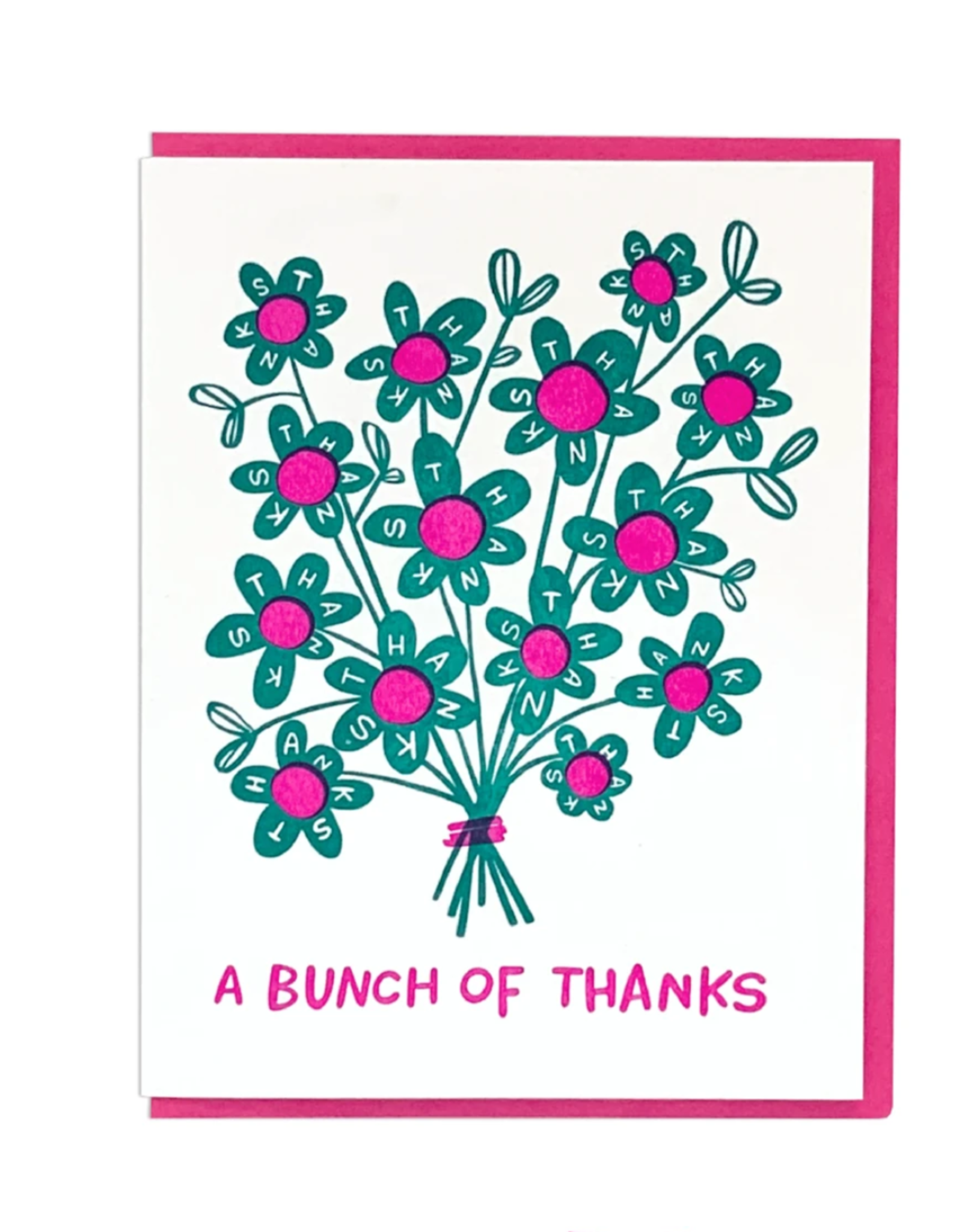 A Bunch Of Thanks Greeting Card