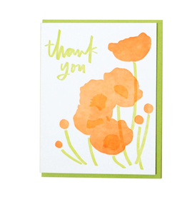 Thank You Poppy Greeting Card