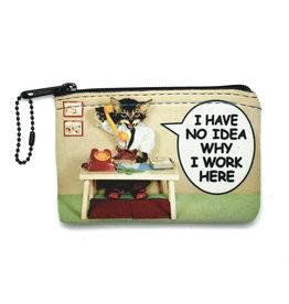 I Have No Idea Why I Work Here Cat Small Zipper Case