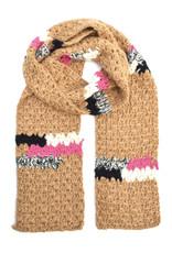 Melange Hand Crochet Scarf -  Camel