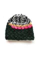 Melange Hand Crochet Hat - Green