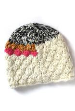 Melange Hand Crochet Hat - White