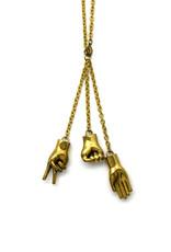 Rock, Paper, Scissor Necklace