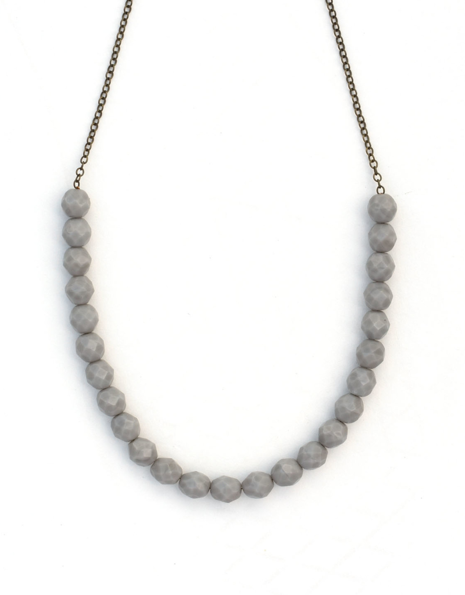 Urban Beaded Necklace Grey