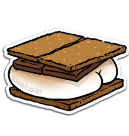 S'more Butt Sticker