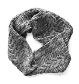 Pema Cable Knit Infinity Scarf - Grey
