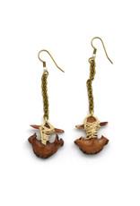 Black Walnut Anchor Earrings